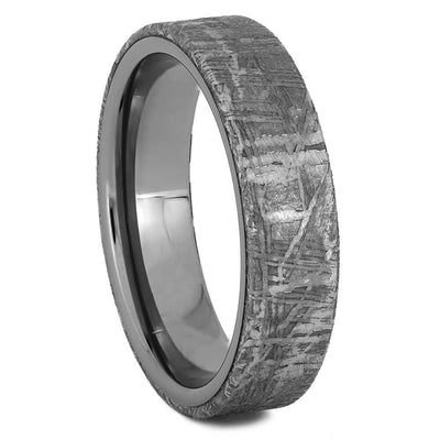 Titanium and Meteorite Wedding Band