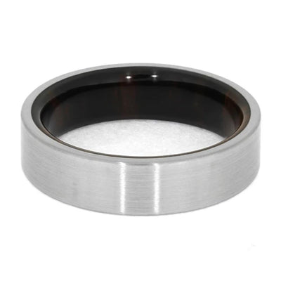 Brushed Finish Titanium Ring With Ironwood Sleeve-1450 - Jewelry by Johan