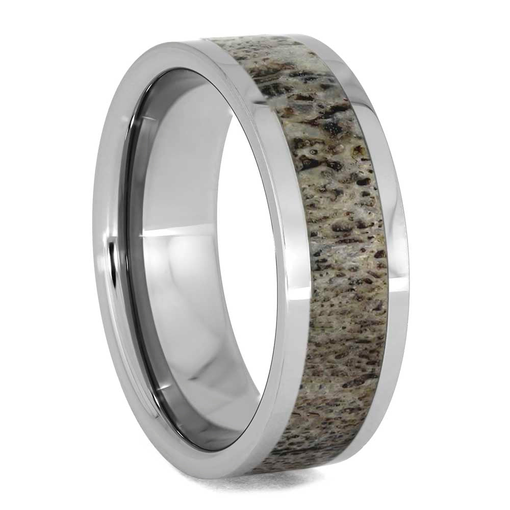 Custom Deer Antler Wedding Band in Titanium or Solid Gold - Jewelry by Johan