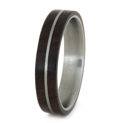 titanium ring with ironwood