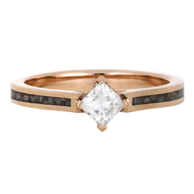 Rose Gold Moissanite Engagement Ring With Deer Antler Ring-2287 - Jewelry by Johan