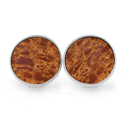 Round Dinosaur Bone Cuff Links, Made To Order-1579 - Jewelry by Johan