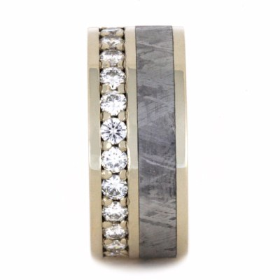 White Gold Moissanite Eternity Band-2269 - Jewelry by Johan