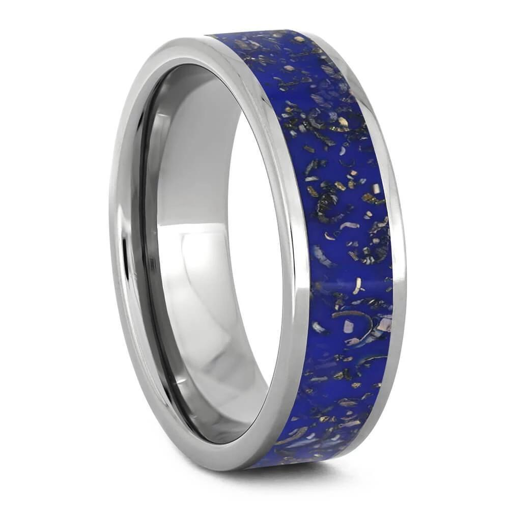 Blue Stardust™ Men's Wedding Band-1706 - Jewelry by Johan