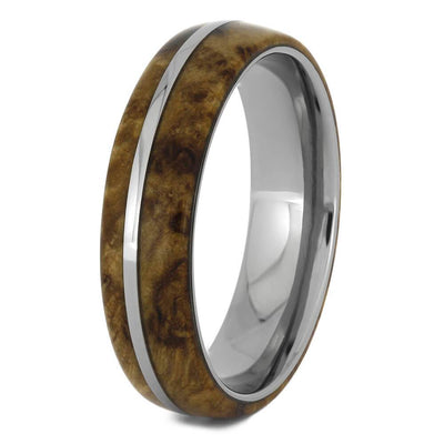Unisex Wood and Titanium Ring