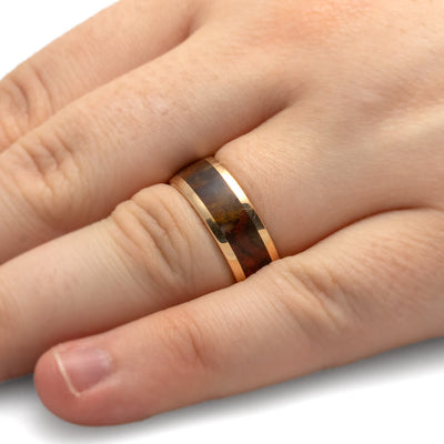 Jasper Ring in 14k Yellow Gold Wedding Band-1768 - Jewelry by Johan