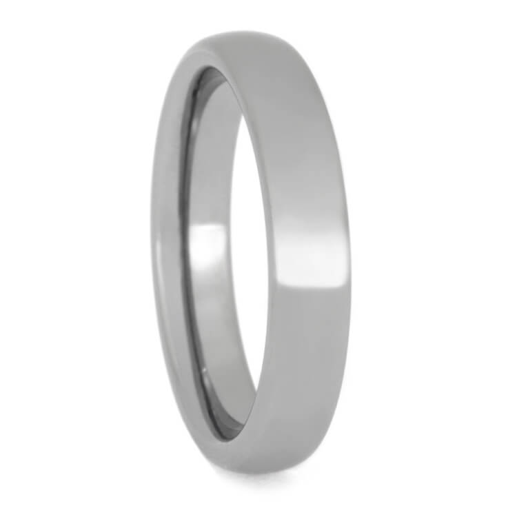 Womens Tungsten Wedding Band With Polished Finish