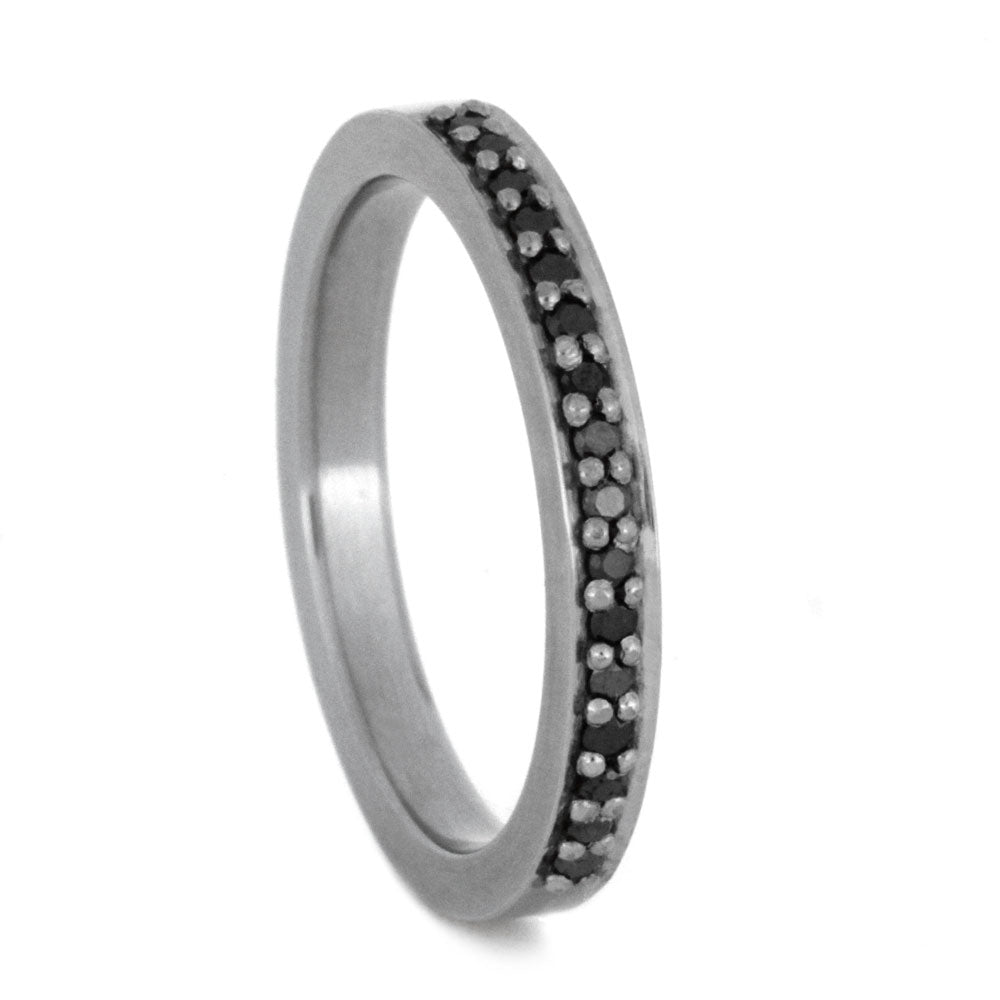 Black Diamond Half Eternity Band in White Gold-3138 - Jewelry by Johan