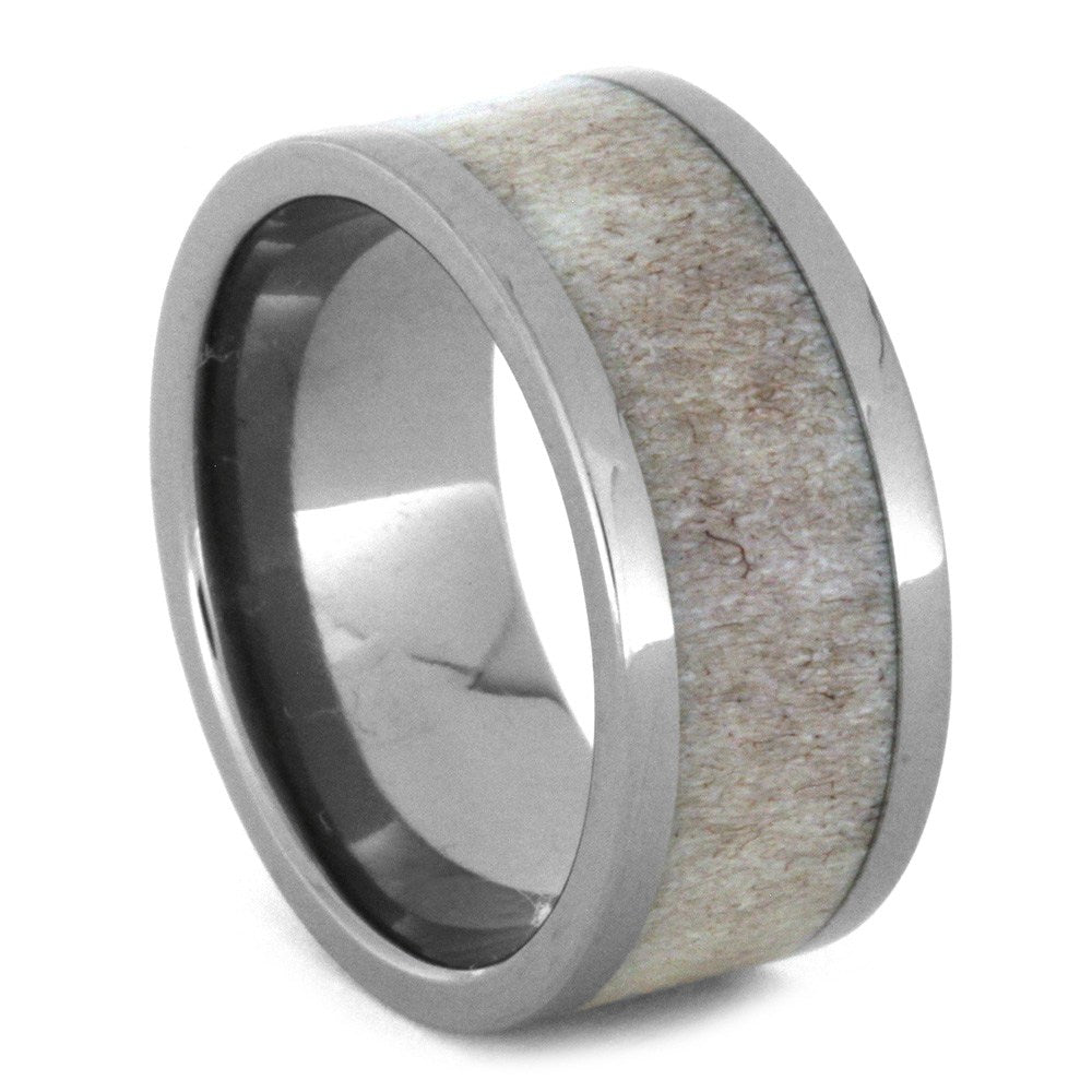 Deer Antler Wedding Band in Titanium, Size 7-RS8595 - Jewelry by Johan