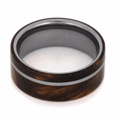 Sindora Wood Wedding Band in Tungsten Carbide-2062 - Jewelry by Johan