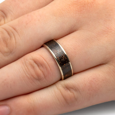 Custom Dinosaur Bone Ring in Polished 14K White Gold-1816 - Jewelry by Johan