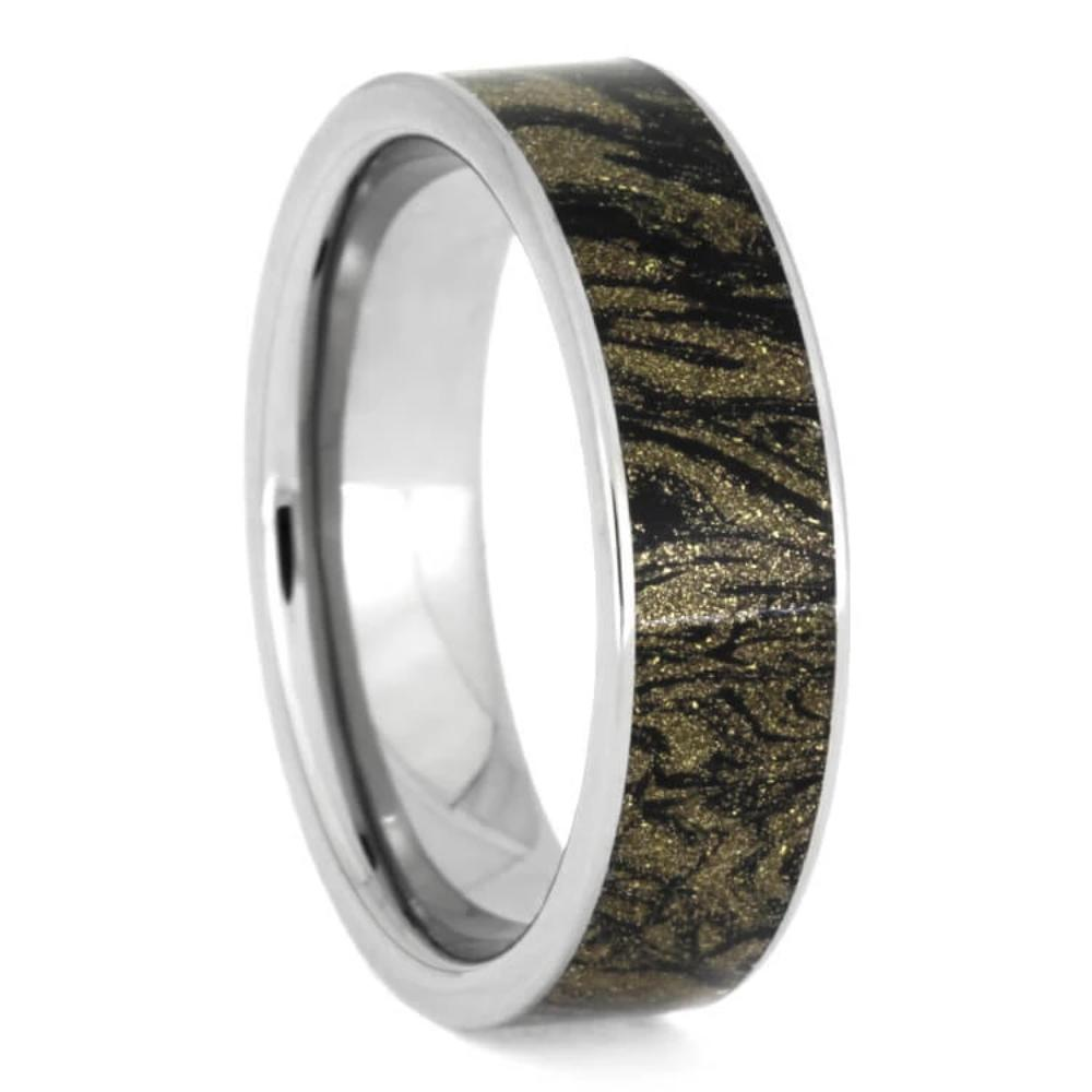 Black And Gold Composite Ring, Mokume Gane Ring-1039 - Jewelry by Johan