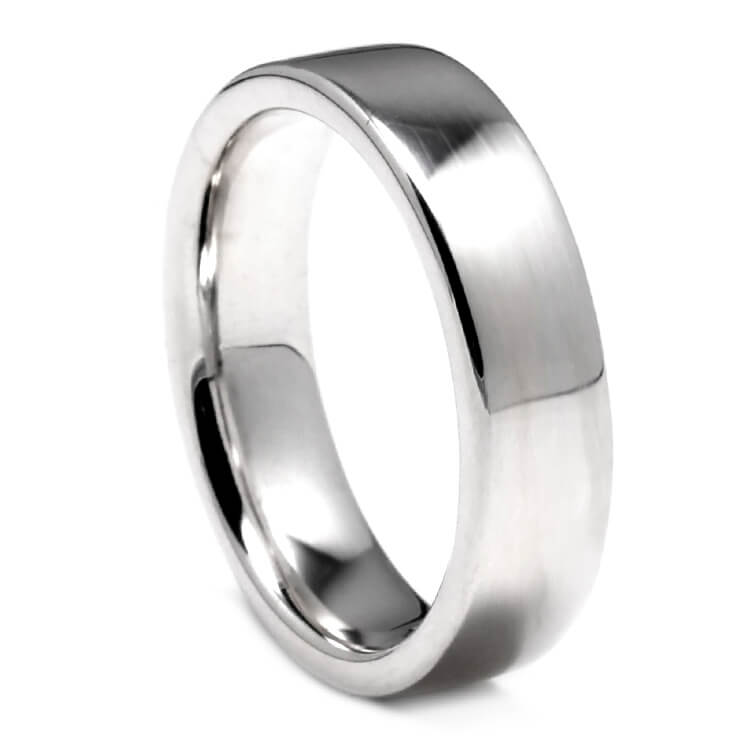 Flat Sterling Silver Ring With Polished Finish, Size 6.75-RS9641 - Jewelry by Johan