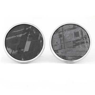 Meteorite Sterling Silver Cuff Links and Shirt Studs Gift Set-3537 - Jewelry by Johan