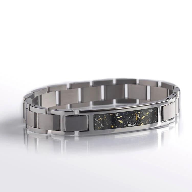 Yellow Gold Stardust™ Bracelet In Polished Stainless Steel-BR1001-2 - Jewelry by Johan