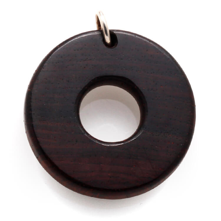 Unique Wood Pendant made with Honduran Rosewood-RS9739