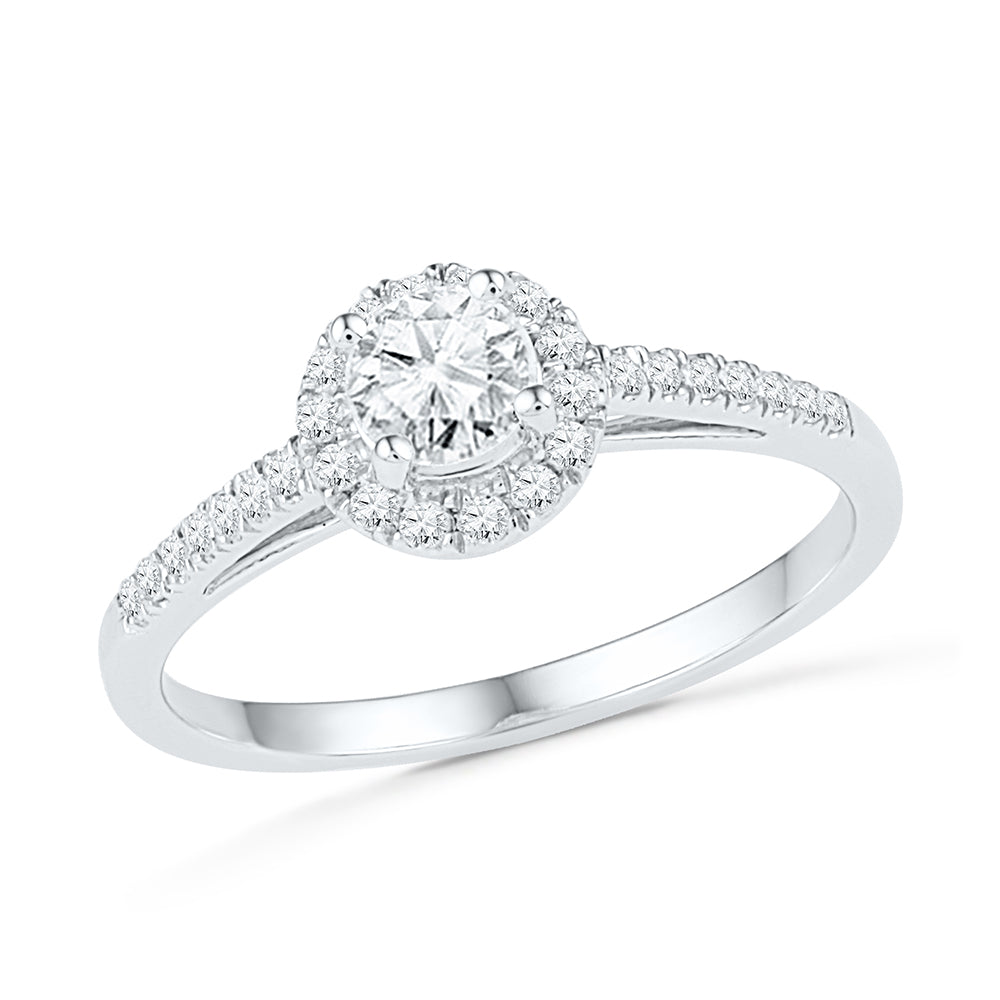Brilliant Engagement Ring in Sterling Silver-SHRE027454-SS - Jewelry by Johan