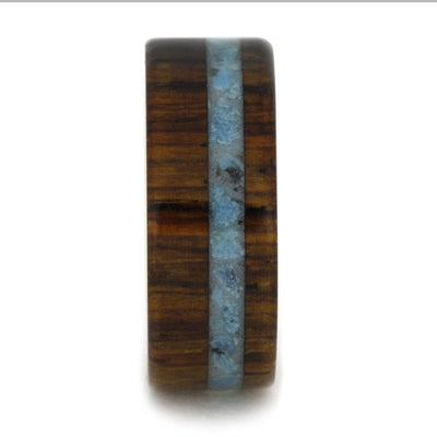 Turquoise King Wood 14k Yellow Gold Sleeve(2)
