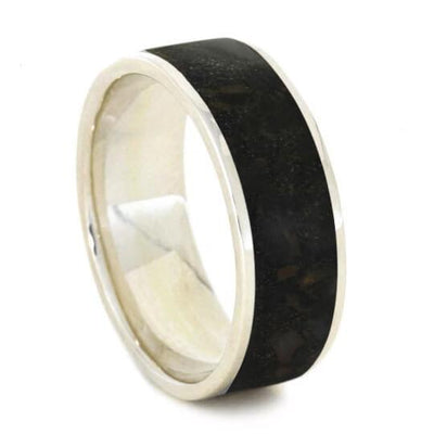 Crushed Dino Bone Wedding Band
