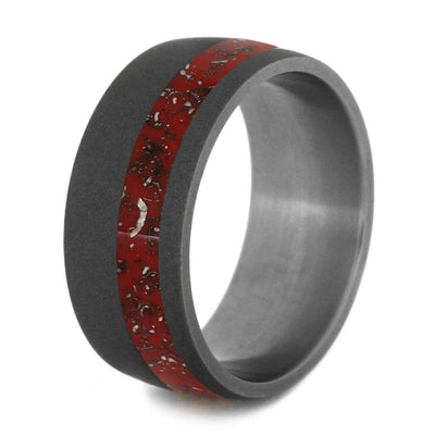 Red Meteorite Wedding Band