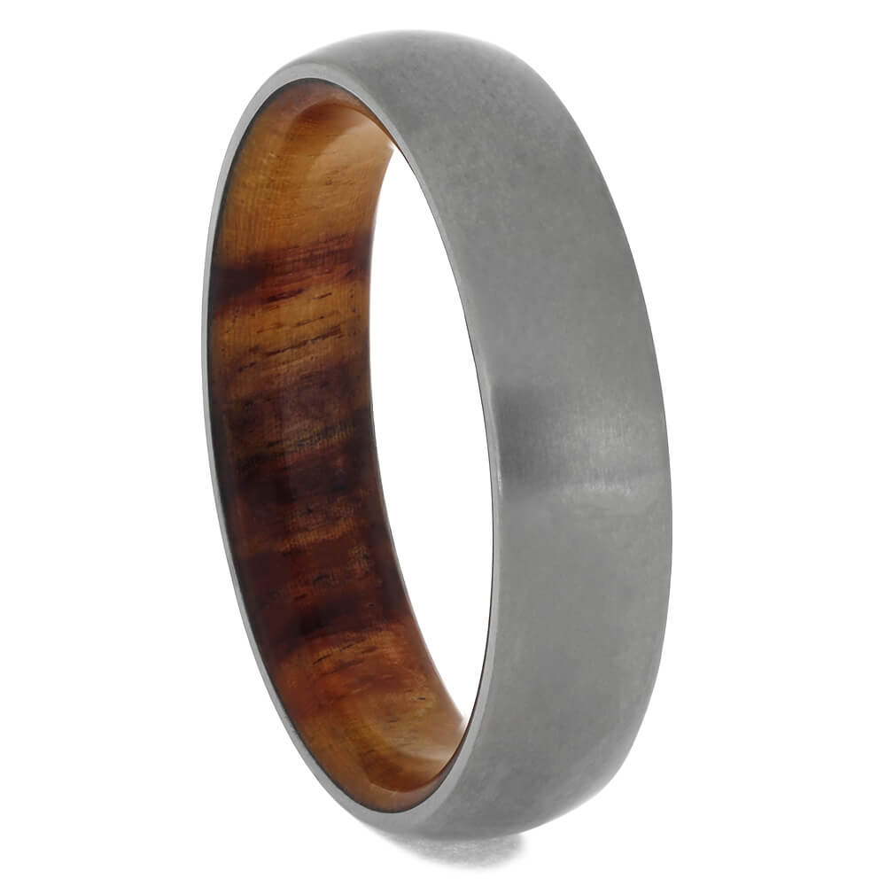 Titanium Wedding Band With Tulipwood Sleeve-2184 - Jewelry by Johan