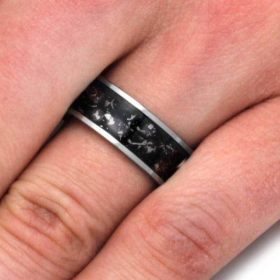 Men's Wedding Band on Finger