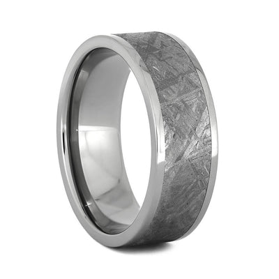 Authentic Gibeon Meteorite Ring In Titanium-2259 - Jewelry by Johan