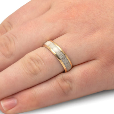 Deer Antler Wedding Band