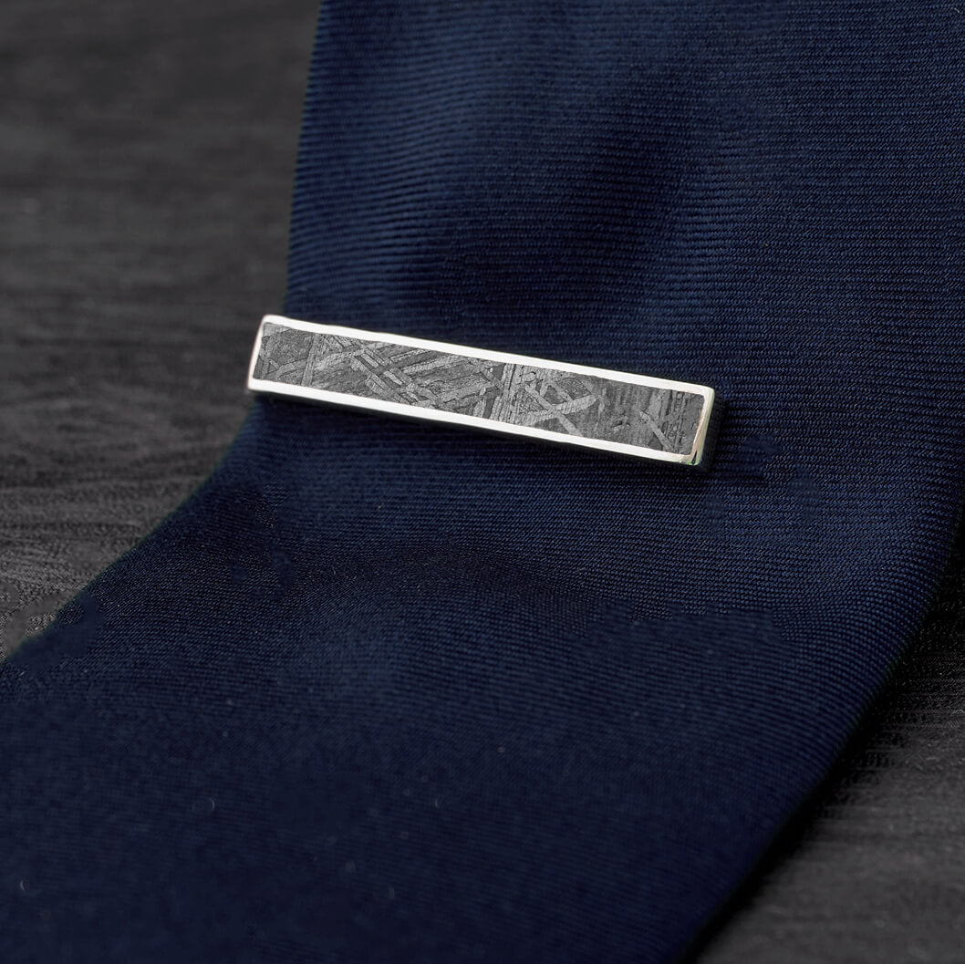 Made to Order Meteorite Tie Clip-2363 - Jewelry by Johan
