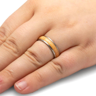 Oak Wood Wedding Band