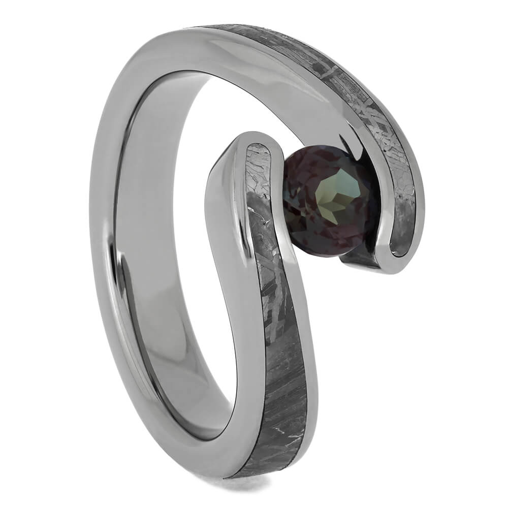 Titanium Tension Engagement Ring for Women