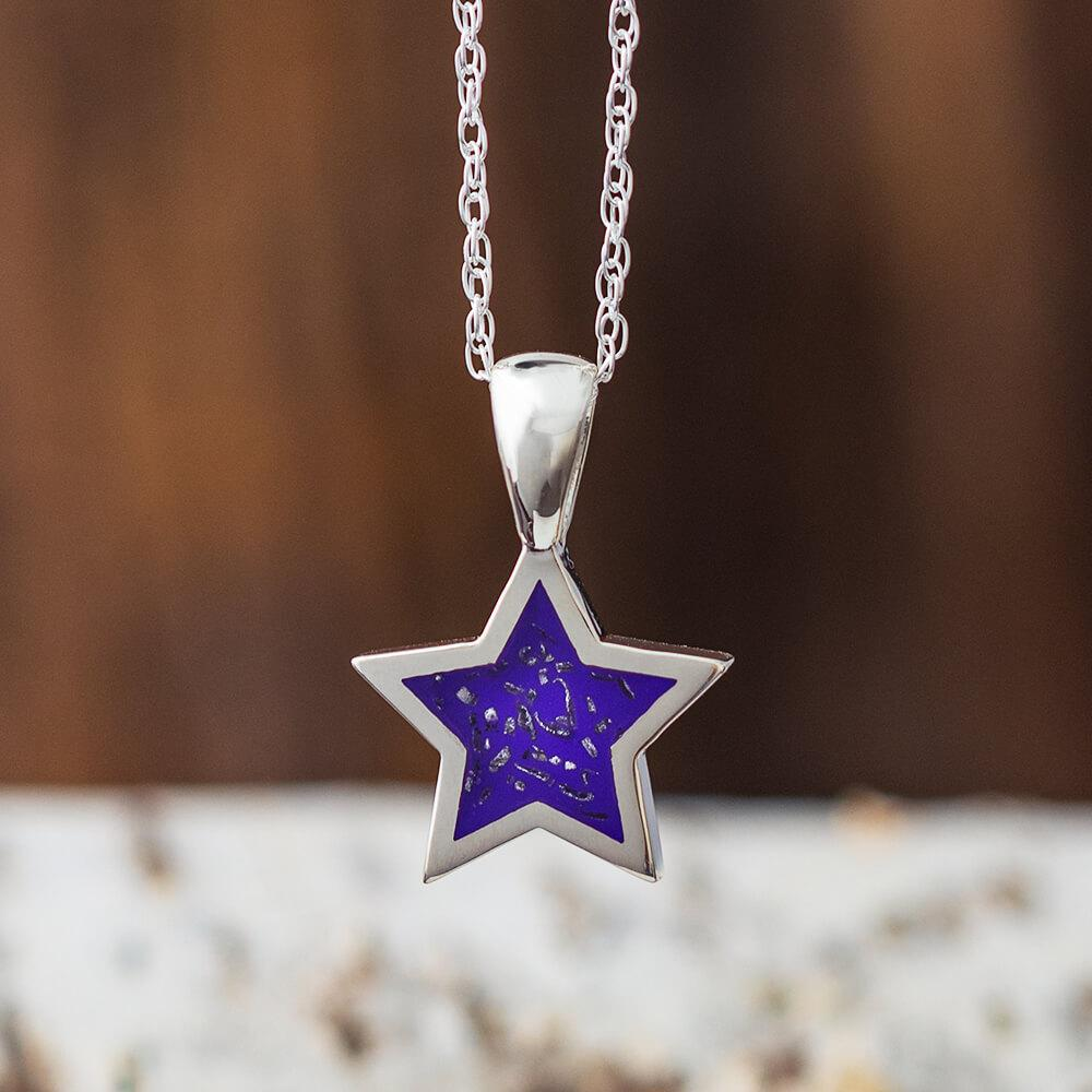Purple Stardust™ Pendant Necklace in Sterling Silver-2425-PU - Jewelry by Johan
