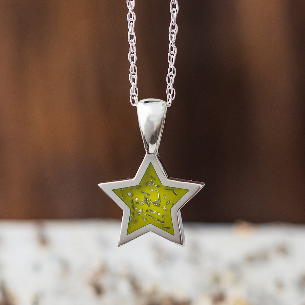 Yellow Stardust™ Star Necklace in Sterling Silver-2425-YE - Jewelry by Johan