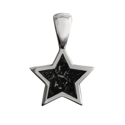 Black Stardust™ Star Pendant in Sterling Silver-2426 - Jewelry by Johan