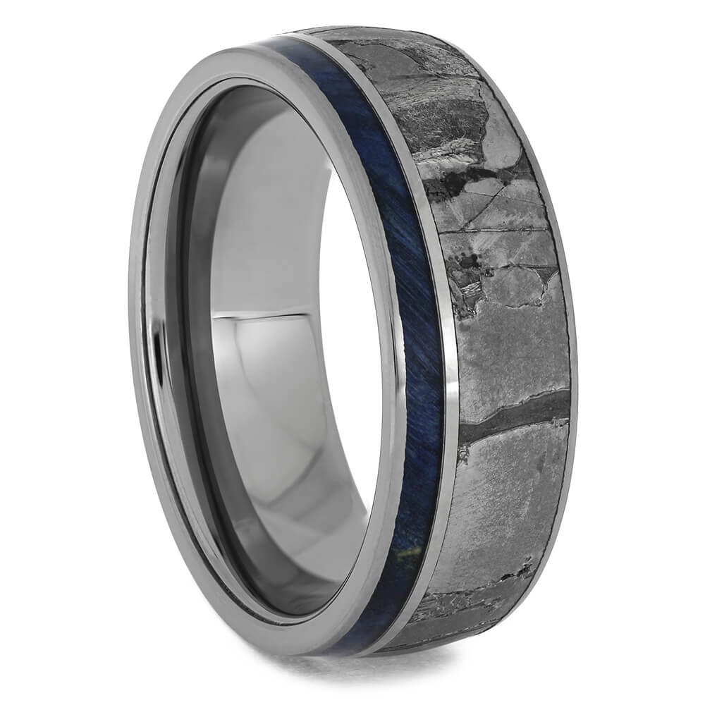 Seymchan Meteorite Wedding Bands