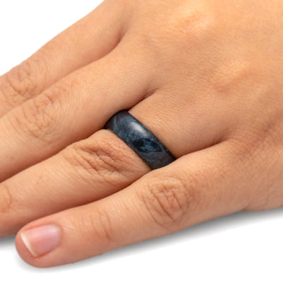 Blue Wood Ring