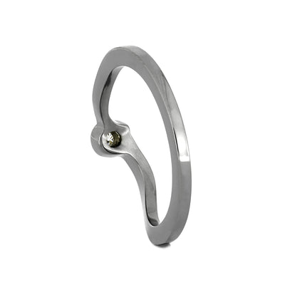 Titanium Shadow Band with 1MM Moissanite-2536-1 - Jewelry by Johan