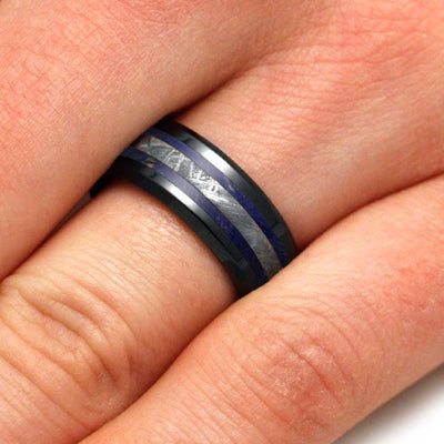 Black and Blue Ring For Man