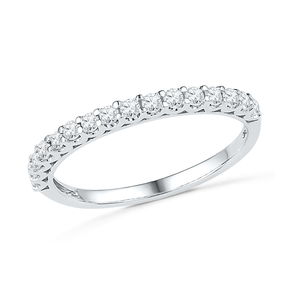Ladies Diamond Wedding Band in Sterling Silver-SHRA030296-SS - Jewelry by Johan