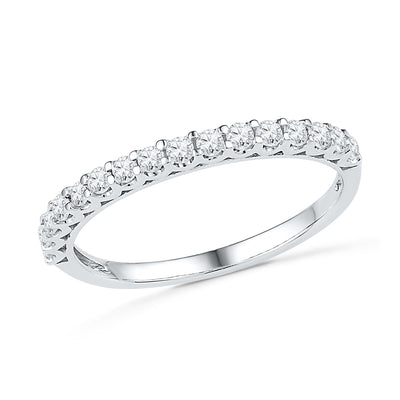 Ladies Diamond Wedding Band in Sterling Silver