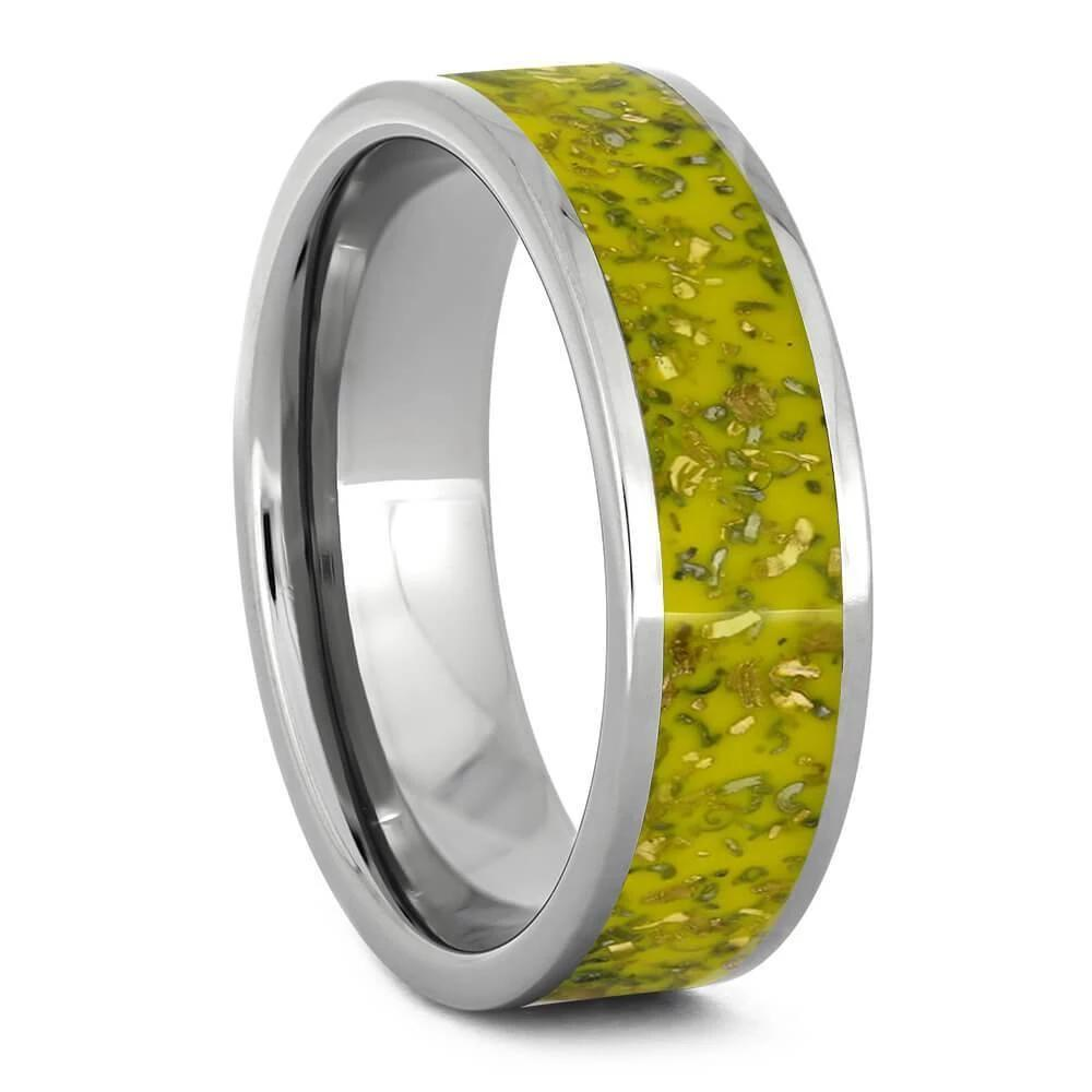 Yellow Stardust™ Titanium Ring-2557 - Jewelry by Johan