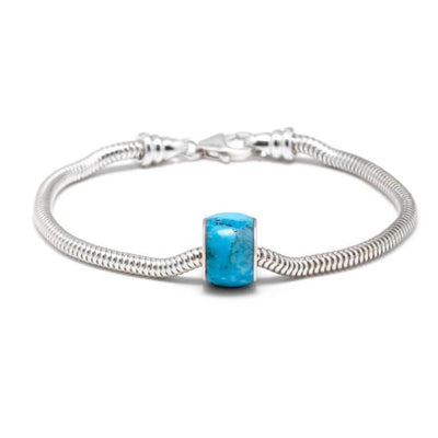 Genuine Turquoise Charm Bead Bracelet, In Stock-SIG3038 - Jewelry by Johan