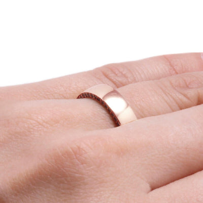 Gemstone Eternity Ring With Wooden Sleeve, 14k Rose Gold Ring-DJ1019RG - Jewelry by Johan