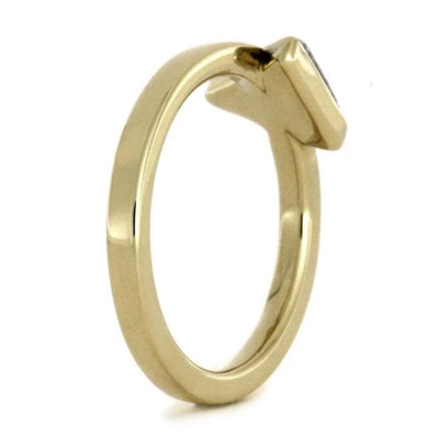 Triangle Setting Meteorite 14k Yellow Gold(3)