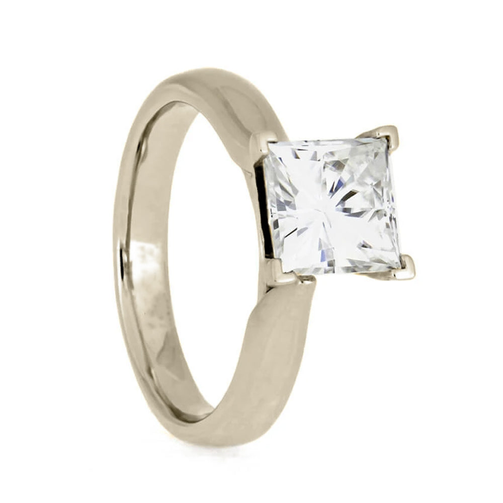 Princess Cut Moissanite Solitaire Engagement Ring-2763 - Jewelry by Johan