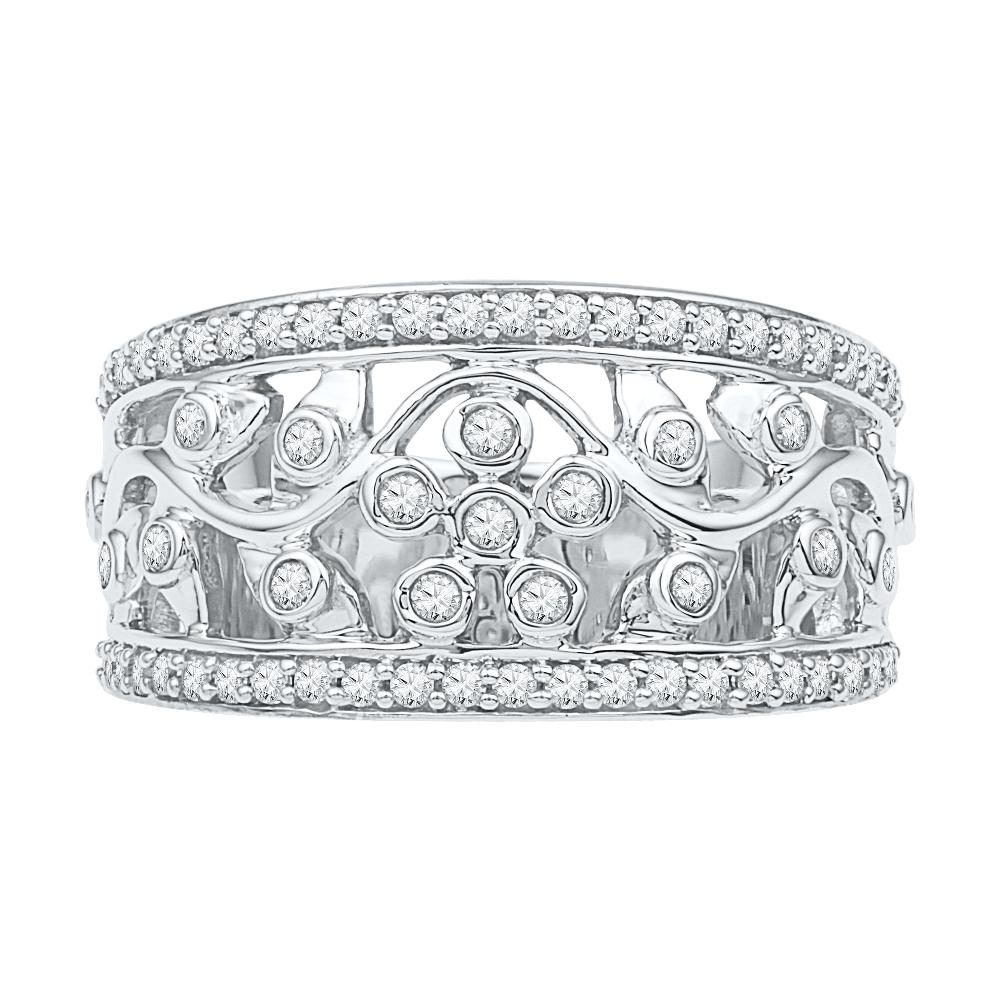 Stunning Diamond Accented Floral Ring-SHRF029834 - Jewelry by Johan