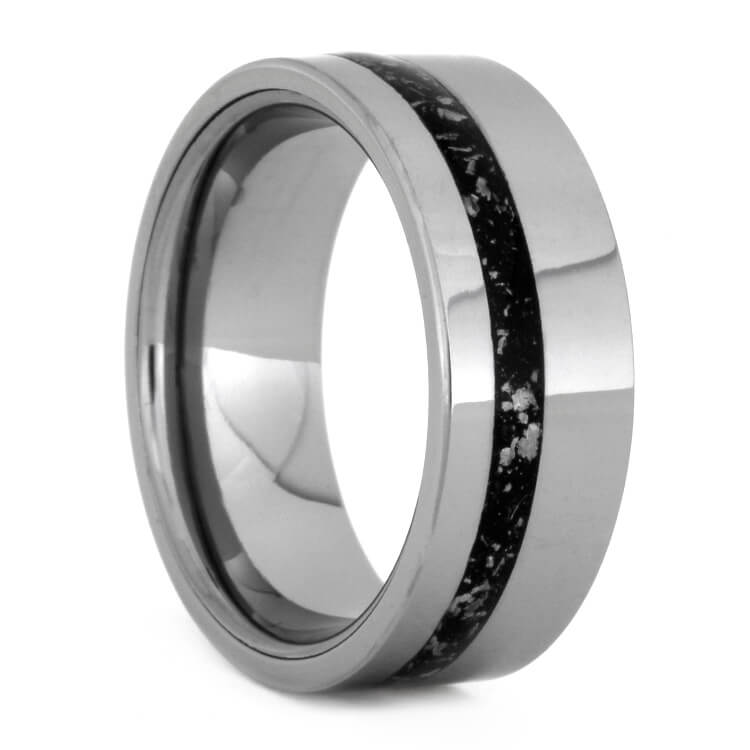Tungsten And Black Stardust™ Wedding Band, Size 7.5-RS9315 - Jewelry by Johan