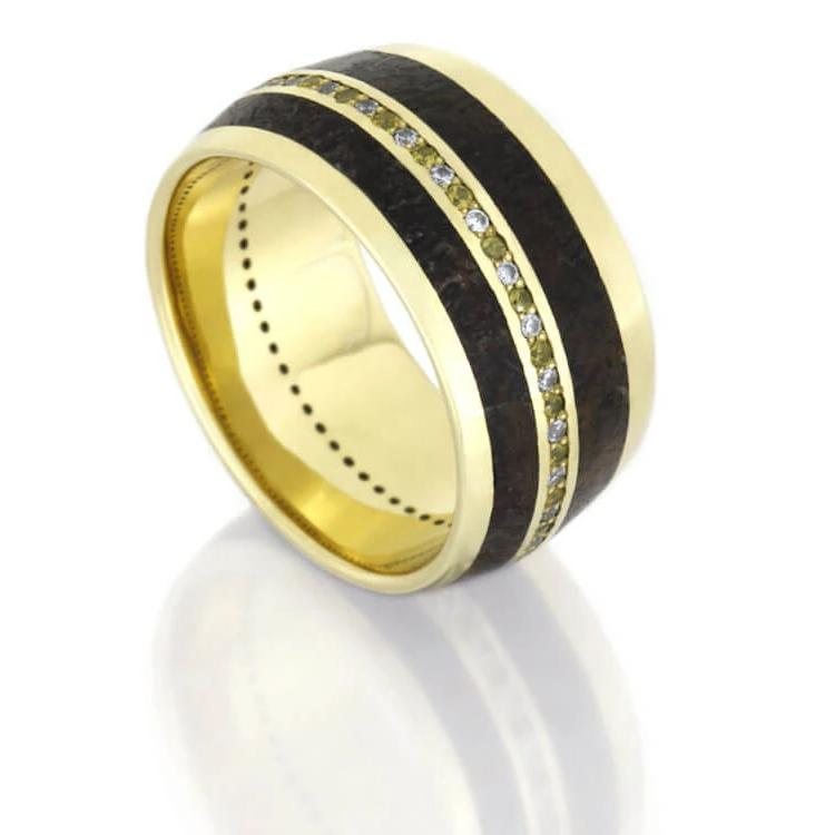 Infinity Band With Yellow Gold
