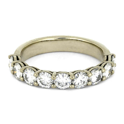 Moissanite Eternity Wedding Band for Women