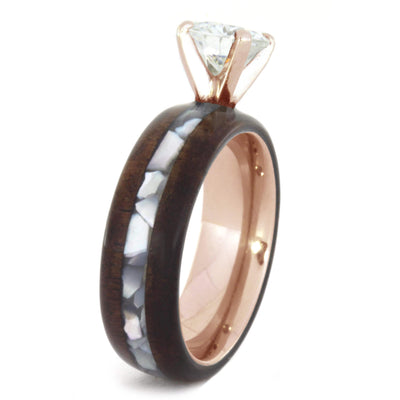 Honduran Rosewood Moissanite 14k Rose Gold Mother of Pearl_1607 (2)